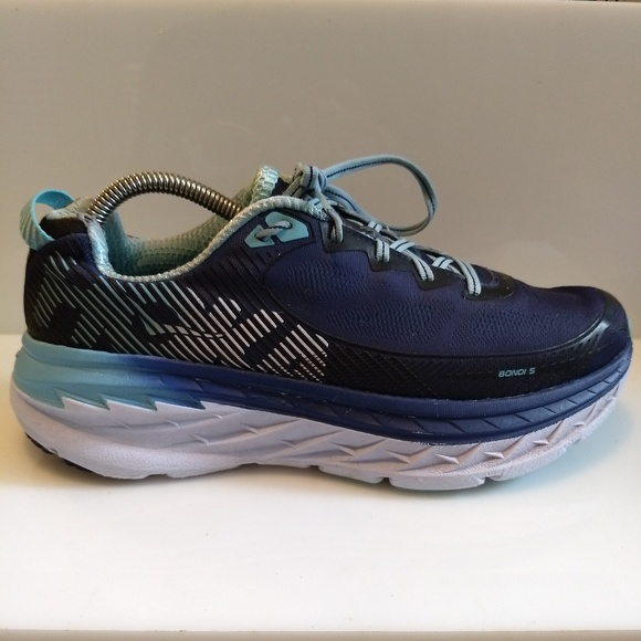detailed look 35934 555db Hoka One One Bondi 5 Blue Teal Running